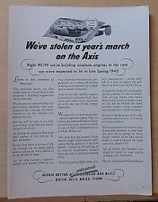 1942 magazine ad for Buick - WW2 ad, Listen to this enemies of America