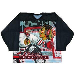 Vtg Rare NHL Chicago Blackhawks All Over Print Ccm Hockey Jersey. Men's XL.
