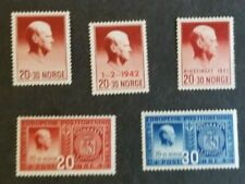 Norway, Norge lot of mint w/hr Quisling stamps