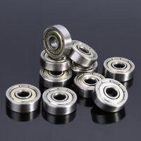 10Pcs 5X16X5mm 625ZZ Carbon Steel Single Row Deep Groove Radial Ball Bearing