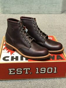 CHIPPEWA ALDRICH CORDOVAN BOOTS # 1901M25  MADE IN USA  size 9 D