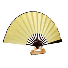 Vintage Bamboo Silk Diy Drawing Painting &Calligraphy Folding Hand Fan Dance