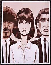 Pulp Fiction - Jules, Mia, and Vincent - Mini Movie Art Poster