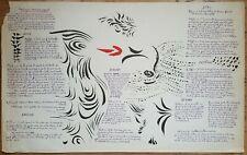 Affiche Dessin Jacques Hérold Poésie Jean-Pierre Duprey Prologue-Mouvement 1960
