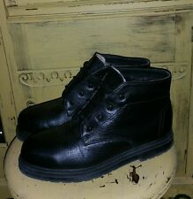 BATES FLOATERS BLACK LEATHER MENS 10 M BIKER BOOTS FUR LINED MOTORCYCLE CHUKKA