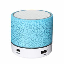 LED Mini Portable Wireless Bluetooth Speaker A9 USB Music Sound Subwoofer Box AA