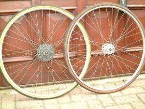 """Pair of vintage wheels @1976.Campag/Weinmann. 27"""""""