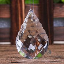 1 Clear Crystal Chandelier Lamp Part Prism Drop Hanging Pendant Suncatcher 50MM