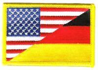 Aufnäher Deutschland / USA Patch Flagge Fahne