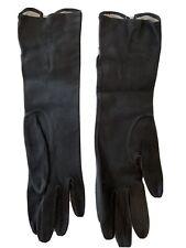 New listing Vintage Saks Fifth Avenue Black Kid Leather Gloves Size 6 France