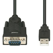 USB Adaptador de serie A, USB A MACHO RS-232 (9-pin) DB9 Cable Serial, prolífico..