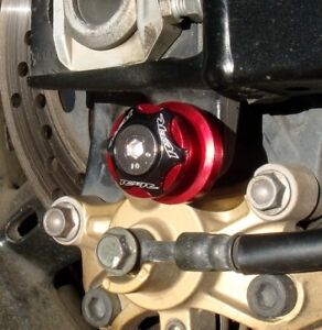 RED 6mm Swingarm Spools R1 R6 R3 FZ8 FZ1 MT09 MT10 RSV4 675 899 959 1199 1299 M6