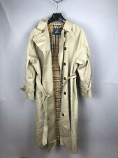 Burberry Vintage Women's Belted Beige Trench Coat UK16 XL Casual Luxury