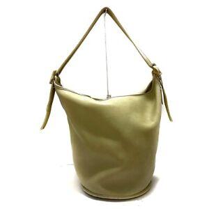 Auth COACH Leather Duffle Shoulder Bag 9085 LightGreen Shoulder Bag