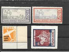 HUNGARY (4 scarce Cinderellas-3 Aviation plus another)