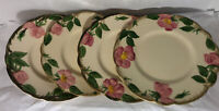 Franciscan Ware DESERT ROSE Vintage USA 1960 4 BREAD Dessert PLATES 6 3/8 Inch