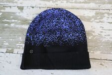 NWOT LULULEMON Light & Bright Toque Black Blazer Blue Hat Cap Slouch Merino Wool