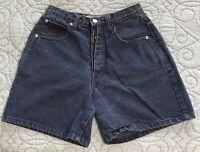 Z. Cavaricci Vintage Button Fly Denim Jean Shorts Sz 30 Dark Wash High Waist EUC