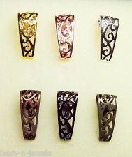 6 INTERCHANGEABLE SLIDE Enhancer Donut Bails Gold Rose Silver Copper Gun Bronze