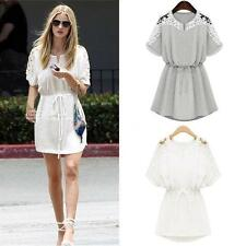 Unbranded Floral Short Sleeve Tunic Dresses for Women