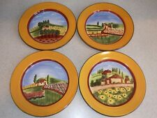ROMANCING PROVENCE COLLECTIONS DOUCE PROVENCE 4 DIFFERENT DESSERT SALAD PLATES