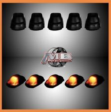 NEW Smoked Tinted AMBER LED cab roof lights 5pc 17-18 Ford F250 F350 super duty