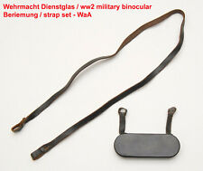 Wehrmacht Dienstglas Beriemung,Trageriemen,Okularschutz,ww2 binocular strap set