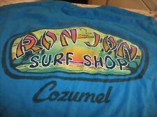 "RON JON SURF SHOP ""COZUMEL"" BLUE-GREEN T-SHIRT MEN'S SIZE M"