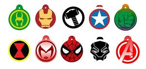 Marvel Superhero Avengers Dog Pet Cat ID Tag Custom Picture Image Personalized