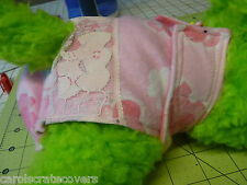 Pink Elephant  Flannel Dog Female Diaper Panty Adjustable Carols Crate Covers