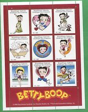 Betty Boop Cartoon Commemorative Souvenir Stamp Sheet Comoro Islands E14