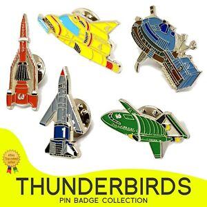 Thunderbirds 1 2 3 4 5 - Thunderbirds Series - Quality Enamel Pin Badge UK STOCK