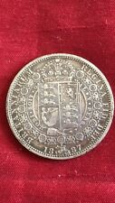 Queen Victoria 1887 Half Crown Very Nice Coin