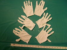 3 PAIRS OF  LIGHTWEIGHT WHITE COTTON GLOVES, MENS SIZE, FREE U.S. SHIPPING!