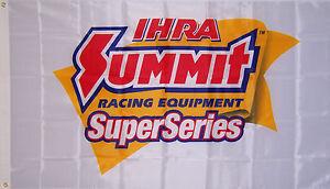 NEW 3x5ft PREMIUM QUALITY IHRA SUPER SERIES SUMMIT RACING FLAG genuine licensed