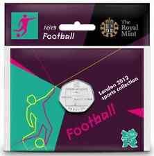 Fútbol Olímpicos de Londres 2012 Royal Mint uncirculated Sellado más rara moneda 50p
