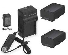 2 Batteries + Charger for Samsung HMX-H304 HMXH320 HMX-H304BN HMXH204BN HMXS16BN