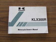 Kawasaki KLX300 R B6 KLX 300R KLX300R 2002 Model Owners Handbook Genuine