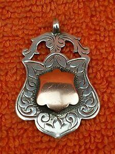 Antique Sterling Silver Hallmarked & Rose Watch Fob 1923, Herbert Bushell & Son