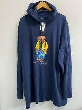 NEW POLO Ralph Lauren Mens Big & Tall Rainjacket Polo Bear T-shirt Hoodie Navy