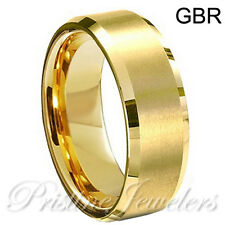 Tungsten Carbide Ring Silver Gold Black Brushed Polish Wedding Band Mens Jewelry