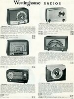 1952 Print Ad of Westinghouse AM/FM Table Radios