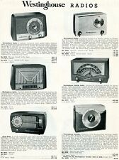1952 Print Ad of Westinghouse AM/FM Table Radios