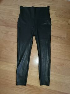 SPANX Faux Leather Leggings 2437P Black  Size 1X