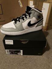 Nike Air Jordan 1 Mid GS Light Smoke Grey Black White 554725-092 SZ 6Y IN HAND