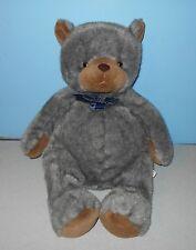 "Carlton Cards 22"" Faux Mink Fur look Bean Plush Stuffed Pot Belly Teddy Bear"