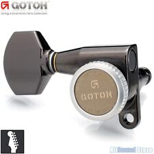 GOTOH SG360-07 MGT 6 In-Line LEFT HANDED Locking Tuners MAGNUM LOCK- COSMO BLACK