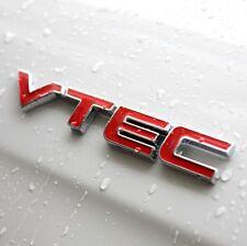 Car Metal Red VTEC Letter Logo Sticker Fender Decal Emblem For Honda Accord CRV