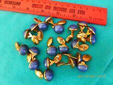 20 Vintage cuff links blue brass bakelite costume jewelry button art deco retro
