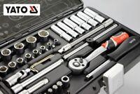 """42 teiliger Werkzeugkasten PROFI Ratschenschlüssel-Set 1/4"""" Werkzeugkoffer YATO"""